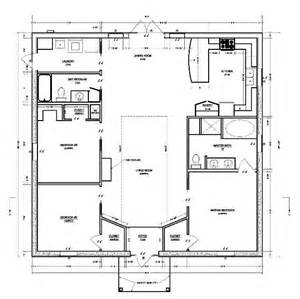simple house plan interesting and efficient