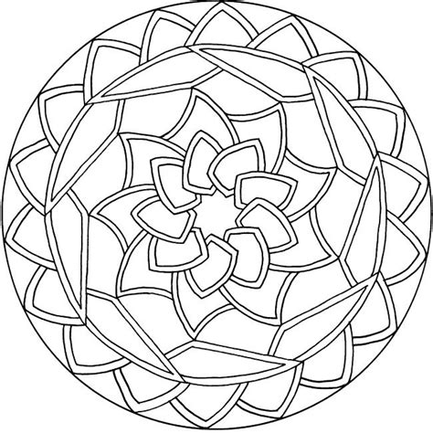 mandala coloring pages easy free coloring pages of simple mandala s