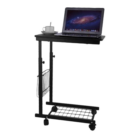 Height Adjustable Laptop Desk Swivel Bedside Table Stand Swivel Computer Desk
