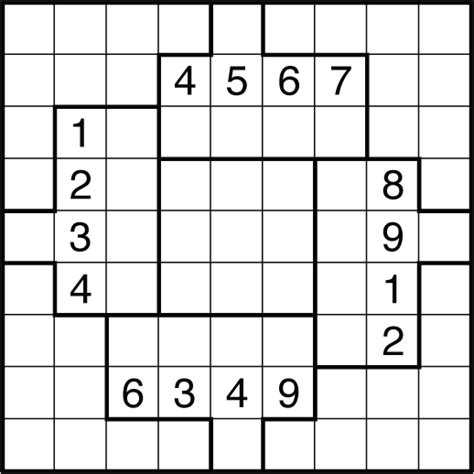 printable sudoku puzzles uk friday puzzle 152 bist inspired irregular sudoku the