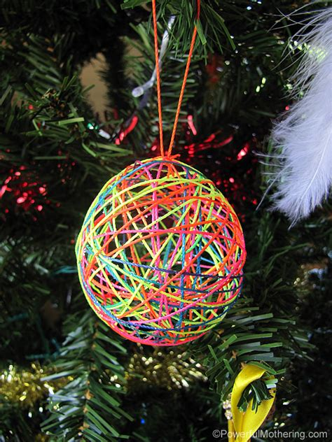 how to draw christmas balls yarn or string ornaments a diy craft for