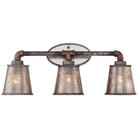 industrial bathroom light fixtures fillmore 23 1 4 quot wide industrial rust 3 light bath fixture