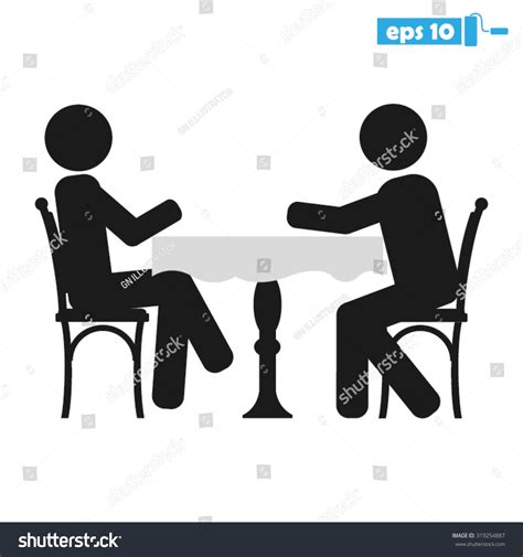 Two Person Chair by Two Table Chair Stock Vector 319254887