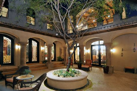 courtyard design for houses spanish style home plans with courtyard