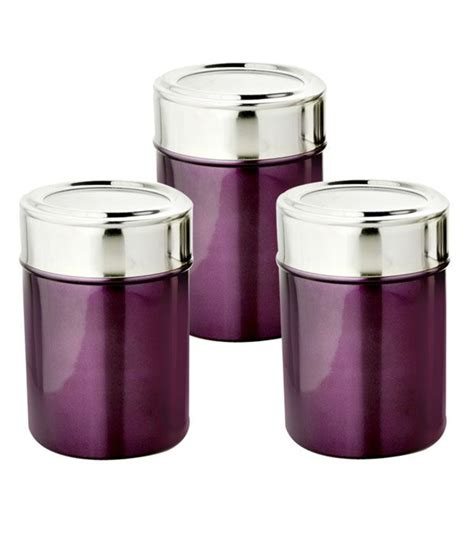 i can t find a canister set with the names sugar flour devisons purple canister set 3 pcs buy online at best