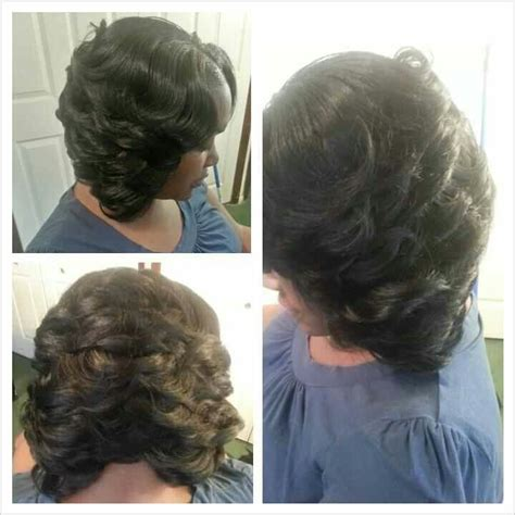 weavr for razor cut with bangs partial sew in razor cut bob weave bobs