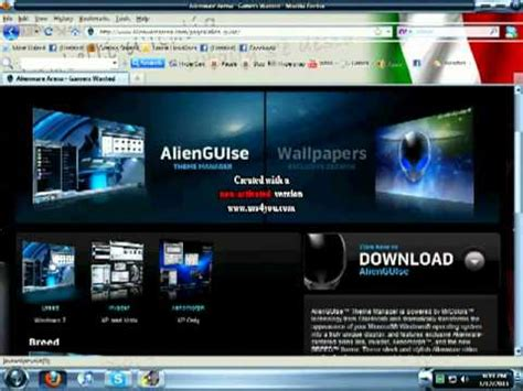 get themes pc how to get alienware desktop themes youtube
