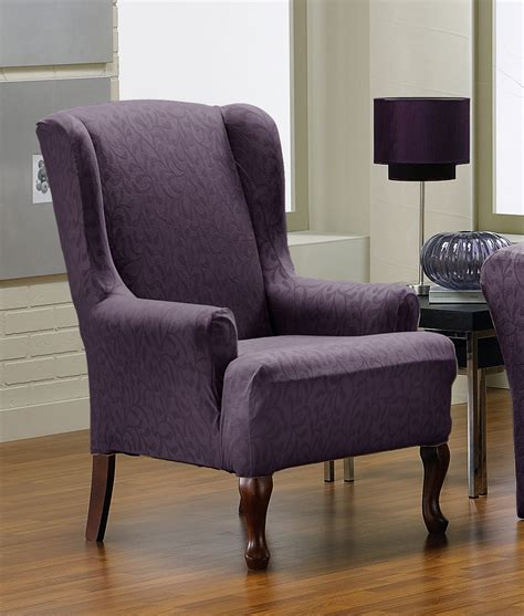 grey wingback chair slipcover strandmon wing chair slipcover chairs seating
