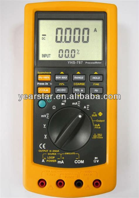 Multimeter Fluke 787 0 05 hart mode 4 20ma process calibrator multimeter