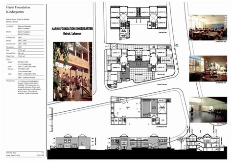 Floor Plans With Dimensions hariri foundation kindergarten presentation panel with