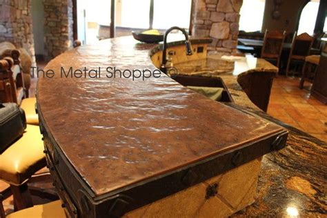 Hammered Copper Bar Top by For The Future Hammered Copper Counter Tops Home