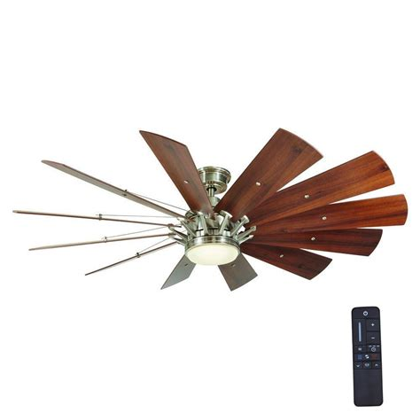 windmill ceiling fan with light kit home decorators collection trudeau 60 in led indoor