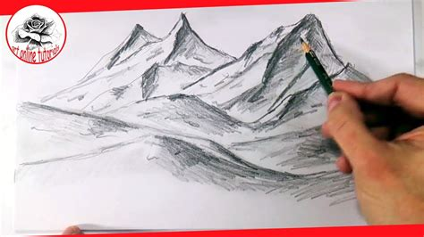 draw realistic mountains  pencil step  step  easy drawing  easy  youtube