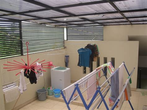 desain dapur dan ruang cuci ruang jemuran cerdik menata rumah minimalis tulisan