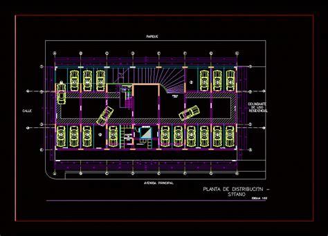 basement plans parking dwg plan  autocad designs cad