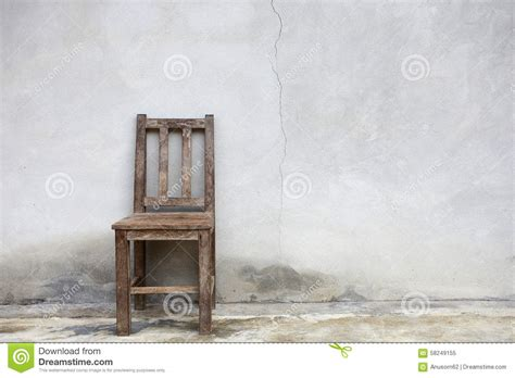 The Chair Is Against The Wall by Chair Against Wall Stock Photo Image 58249155