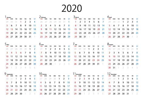 カレンダー 2020 無料 シンプル A5