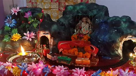 decoration for navratri at home navratri decoration at my home 2017 youtube