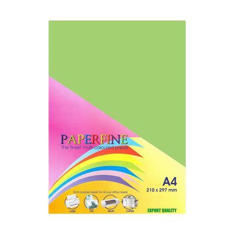 Kertas Origami Warna Warni Origami Paper Ukuran 15x15 jual paperfine kertas hvs warna a4 green hijau ijo 25 lembar harga kualitas