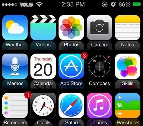 Iphone 4s Icons Top Bar by How To Mimic The New Ios 7 Look In Ios 6 On Your