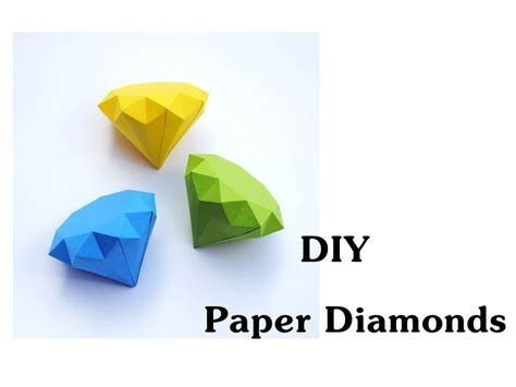 How To Make Diamonds Out Of Paper - diy how to make paper diamonds