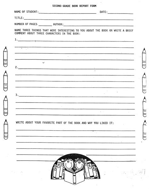 2nd grade book report worksheets printables for 3rd 5th