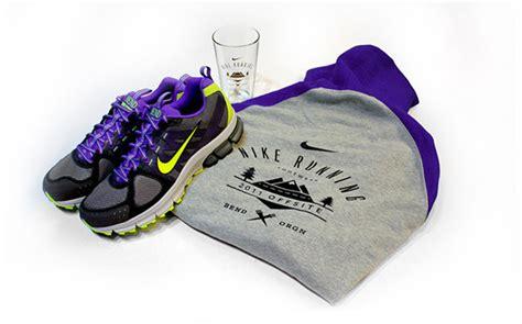 running shoes bend oregon nike running event materials on behance