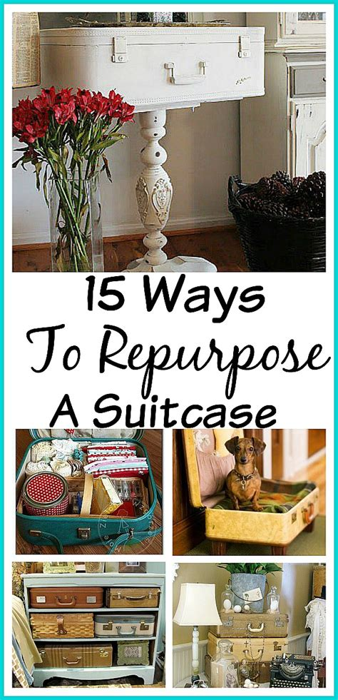 vintage this repurpose that 15 ways to repurpose a suitcase