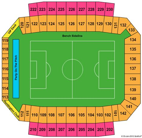 columbus crew stadium seating chart mapfre stadium home