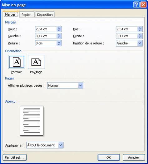 Exemple De Lettre Word 2007 Mise En Page Lettre Word 2007