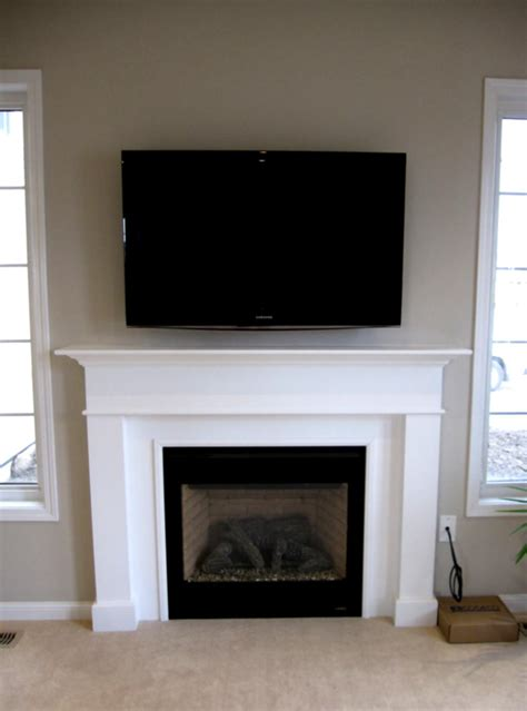 Tv The Fireplace Ideas by Living Room Fireplace Tv Arrange Home Design Ideas