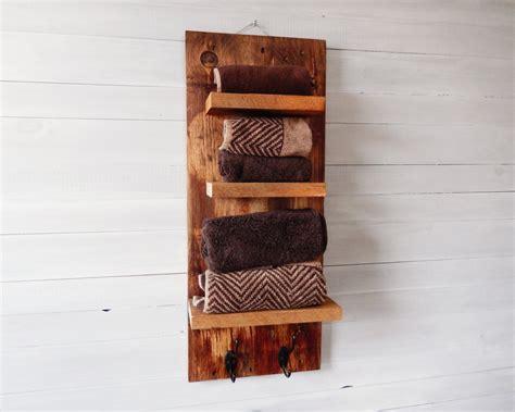 16 Fascinating Handmade Bathroom Organization Ideas Rustic Bathroom Shelves