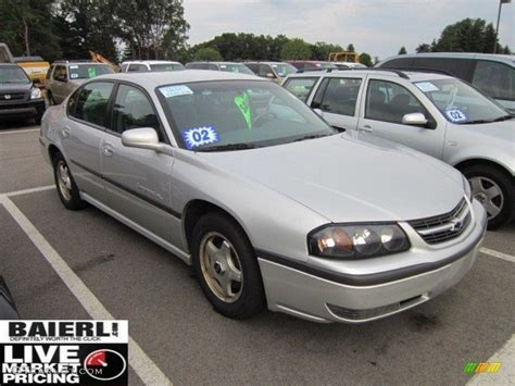 impala silver 2002 galaxy silver metallic chevrolet impala ls 51478634