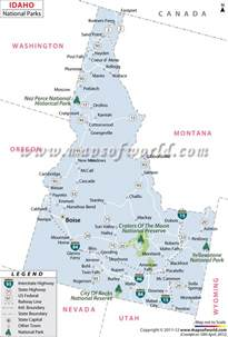 buy idaho national parks map