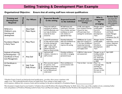 Sales Development Plan Template Sales Plan Template Sles And Templates