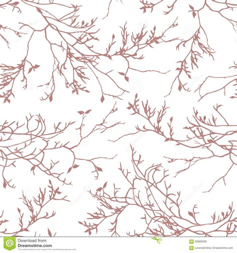 brown tree pattern brown tree branches seamless vector pattern stock vector
