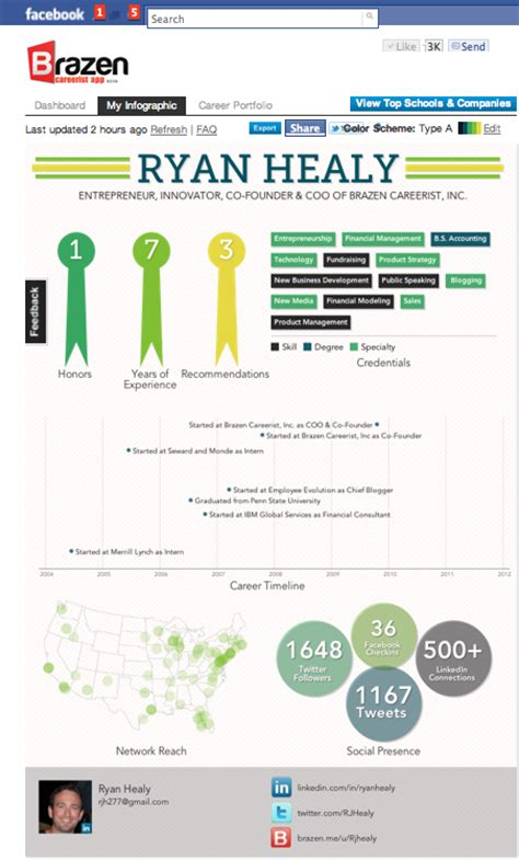 top 6 free best infographic resume creator