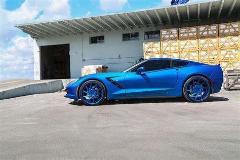 corvette stingray laguna blue pics laguna blue corvette stingray on blue forgiato