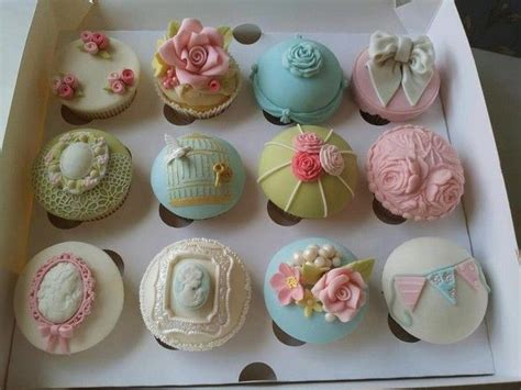 shabby chic cupcakes pretty desserts pinterest