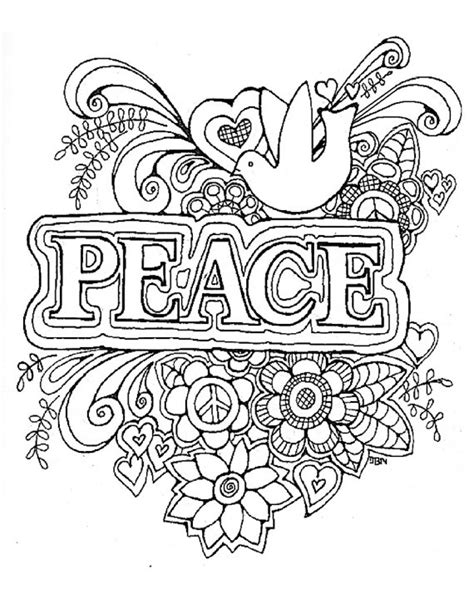 peaceful patterns coloring pages adult coloring page peace original digital download