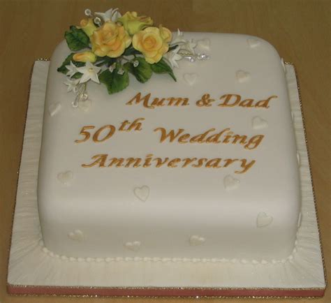 Wedding Cake Anniversary by Golden Wedding Anniversary Alison S Cakes