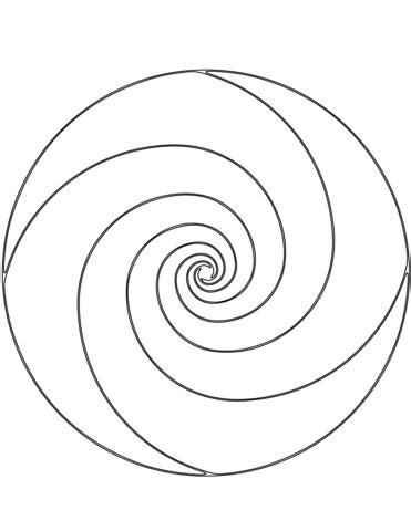 spiral mandala coloring pages spiral mandala coloring page free printable coloring pages