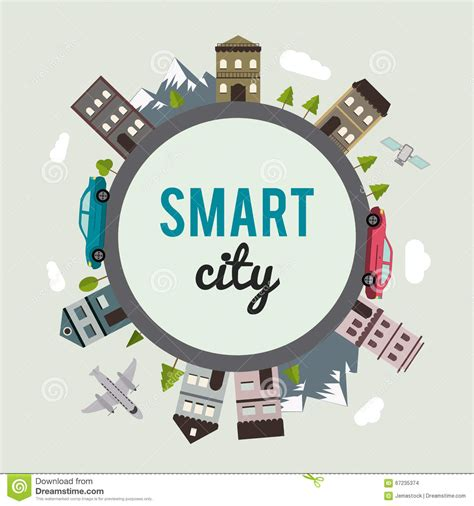 smart design smart city design stock illustration illustration of