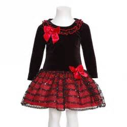 bonnie jean black red christmas dress baby toddler little