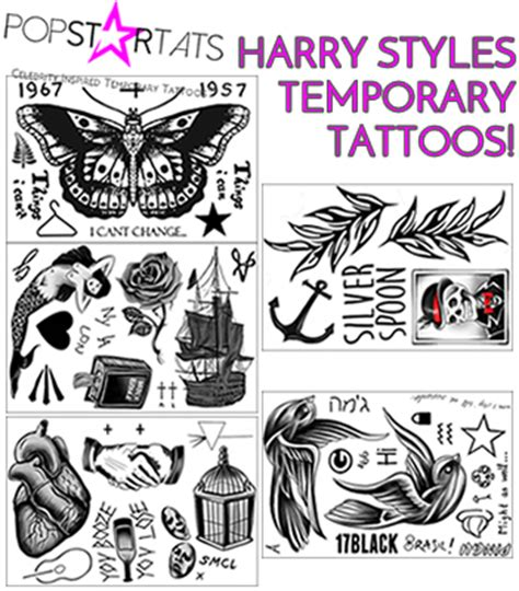 harry styles fake tattoo pop star tattoo news celebrity inspired temporary tattoos
