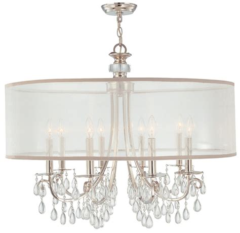 chandelier with shade and crystals drum shade chandelier with crystals home design ideas
