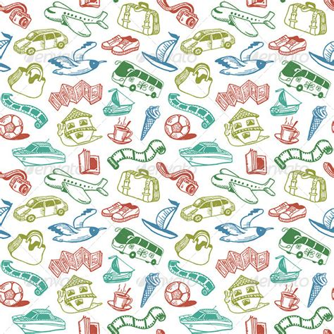 pattern travel background travel and rest seamless pattern vector travel tourism