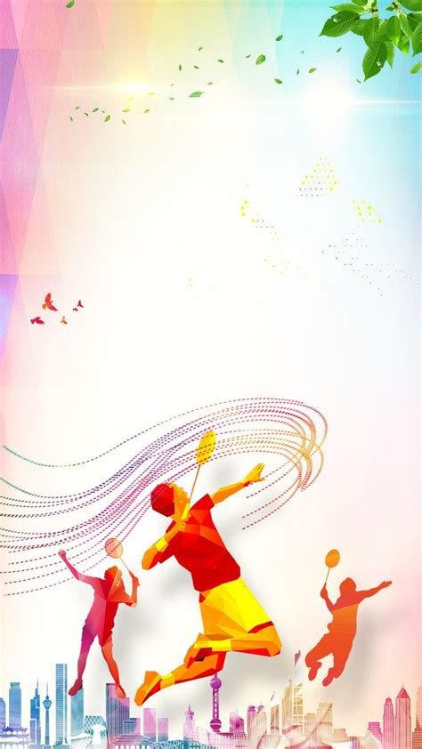 badminton fitness fitness poster  background psd layered