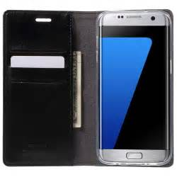 Samsung Galaxy S7 Goospery Blue Moon Flip Cover Wallet Casing etui portefeuille mercury goospery blue moon pour samsung