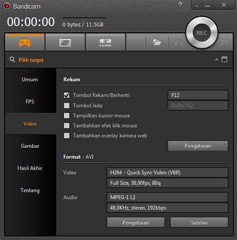 aplikasi bandicam full version screenshot
